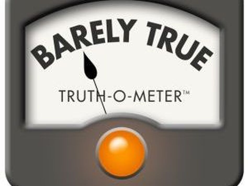 "PolitiFact's ""Barely True"" rating.  (PolitiFact)"