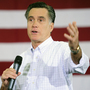 Republican presidential hopeful Mitt Romney at a campaign rally in Florence, S.C., earlier today (Jan. 17, 2012).