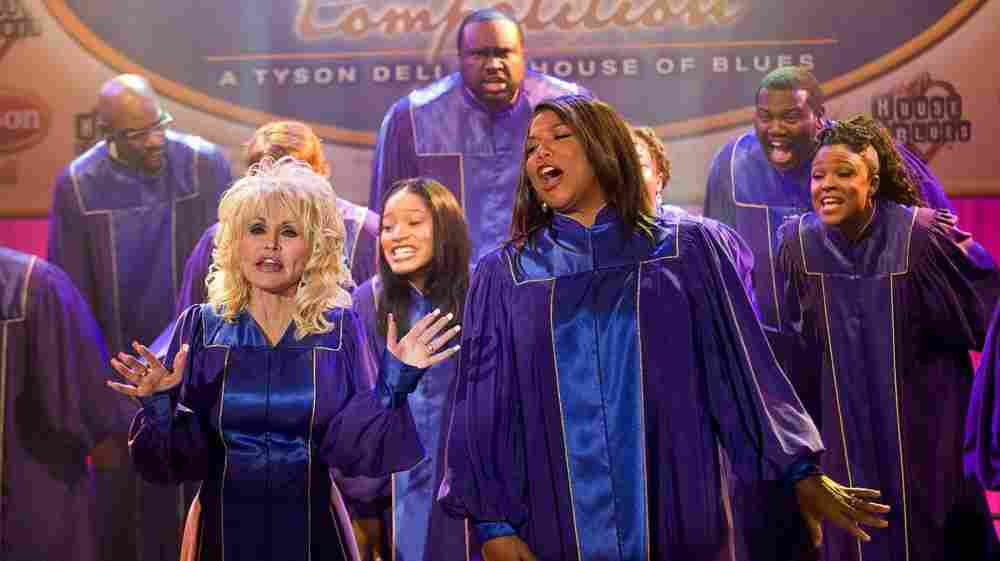 """Oscar nominees Dolly Parton and Queen Latifah star in the new film Joyful Noise. Parton wrote a dozen songs for the movie. """"Well, I love to write,"""" she says. """"Especially when I've got a challenge."""""""