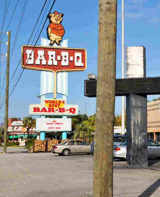 After consulting with friends and colleagues, Molly compiled a list of recommended barbecue spots. She and her father visited 31 establishments, including Maurice's BBQ Piggie Park in West Columbia, S.C.