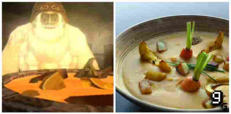 "...Yeto's healing soup in ""Legend of Zelda: Twilight Princess."""