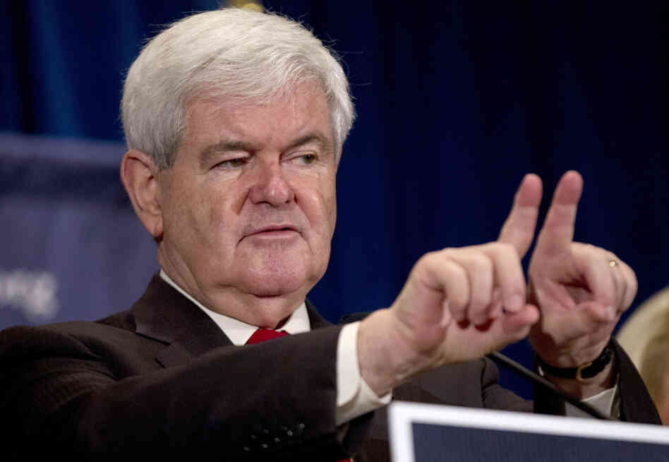 Former House Speaker Newt Gingrich speaks at the Christ Central Community Center in Winnsboro, S.C., on Wednesday.