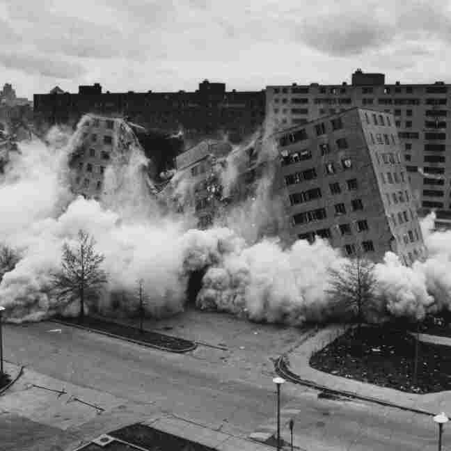 After their last residents had left, the 33 buildings at Pruitt-Igoe were demolished in the mid-1970s.