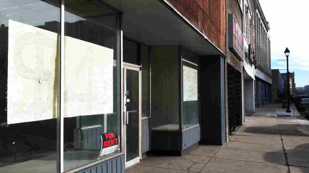 Almost every office building in downtown McKeesport, Pa., is abandoned or boarded up. Since the departure of the steel industry, the city's population has dropped from 55,000 to 19,000.