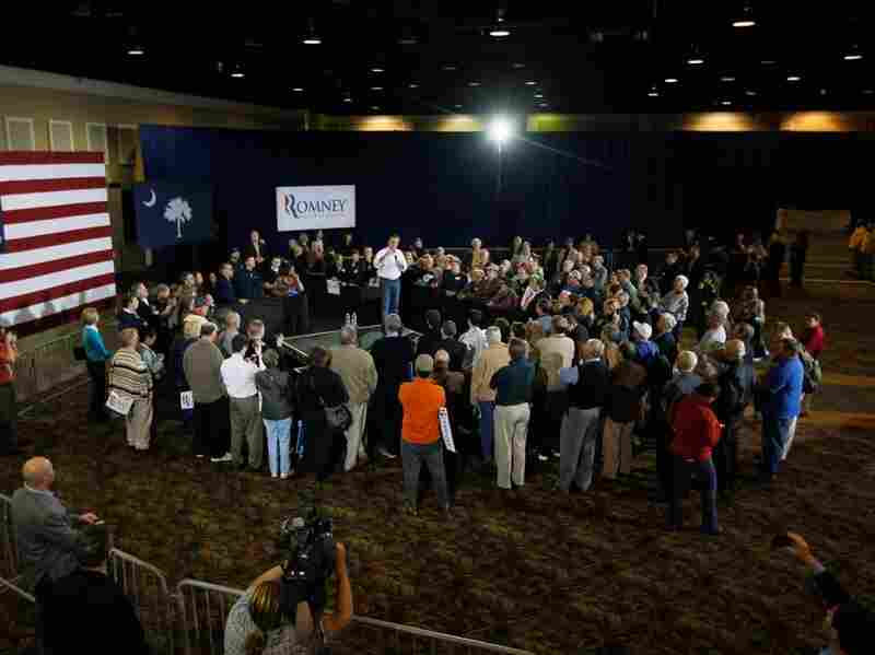 Republican presidential candidate Mitt Romney speaks during a campaign rally on Jan. 17, 2012 in Florence, South Carolina. Romney is the front runner in the GOP primary. Nations around the world, just like this crowd, are watching Romney's intently.