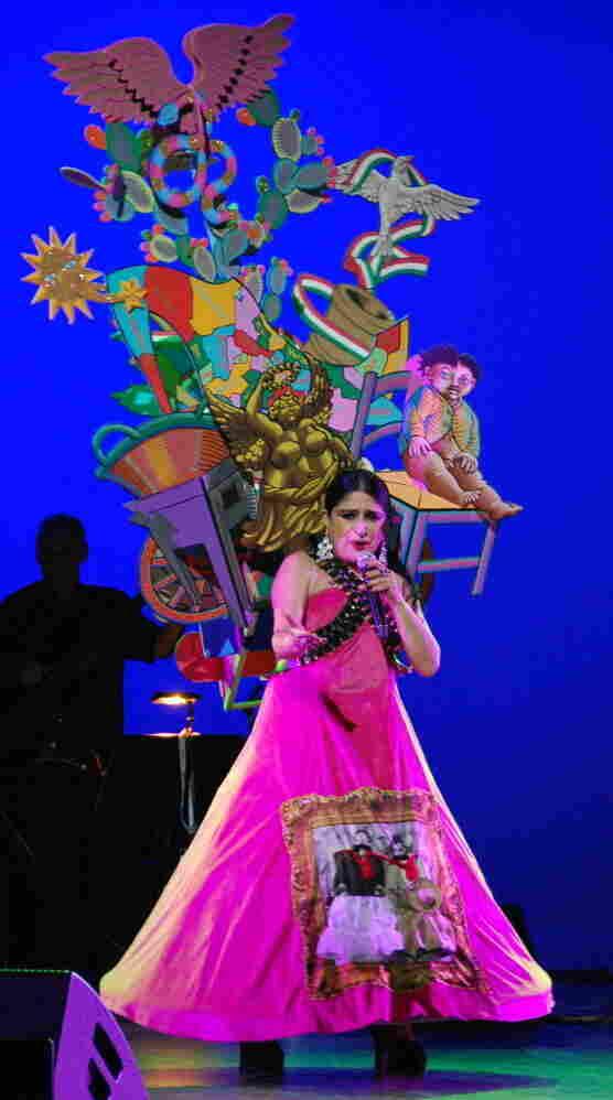 Astrid Hadad performs in Mexico.