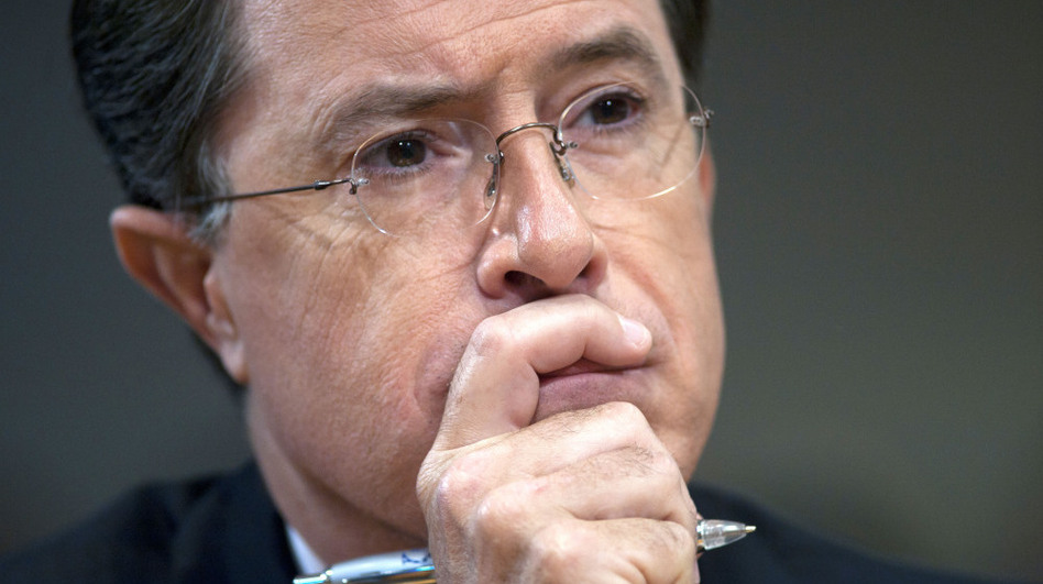 Comedian Stephen Colbert appears before the Federal Election Commision in Washington, June 30, 2011. The FEC granted Colbert's request to form a political action committee.  (AP)