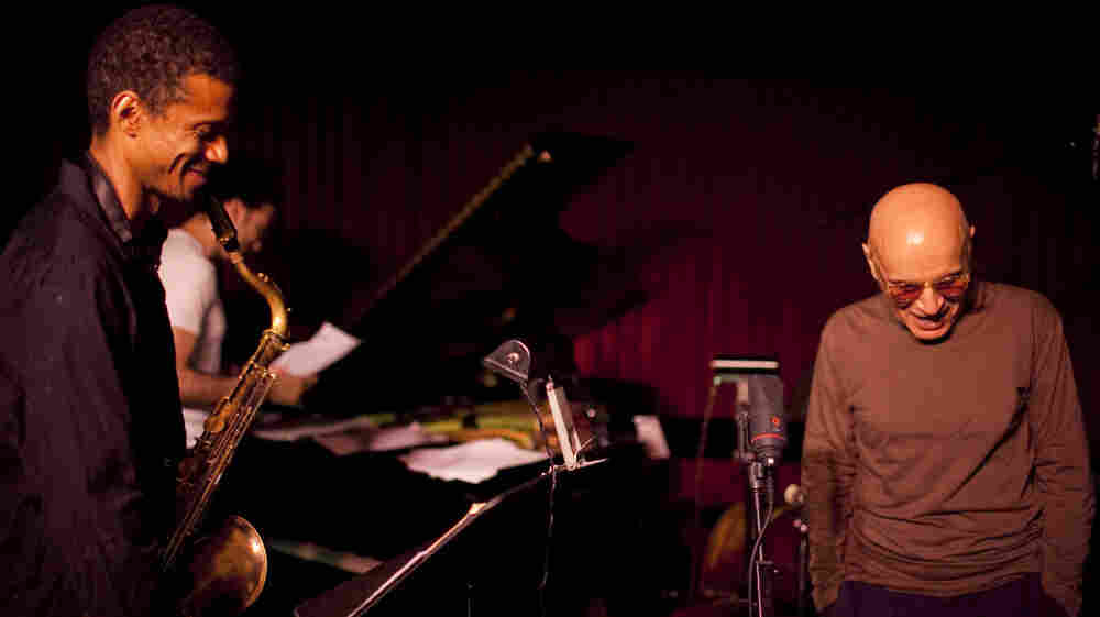 """Mark Turner (left) told JazzSet, """"I consider myself an economical player, not at the top of my voice on every song no matter what, and Paul [Motian] is like that."""""""