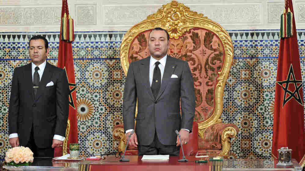 Morocco's King Mohammed VI introduced reforms after protests began last February. But activists say the measures didn't go far enough and they are still taking to the streets. Here, the king is shown in his palace in Rabat on June 17.