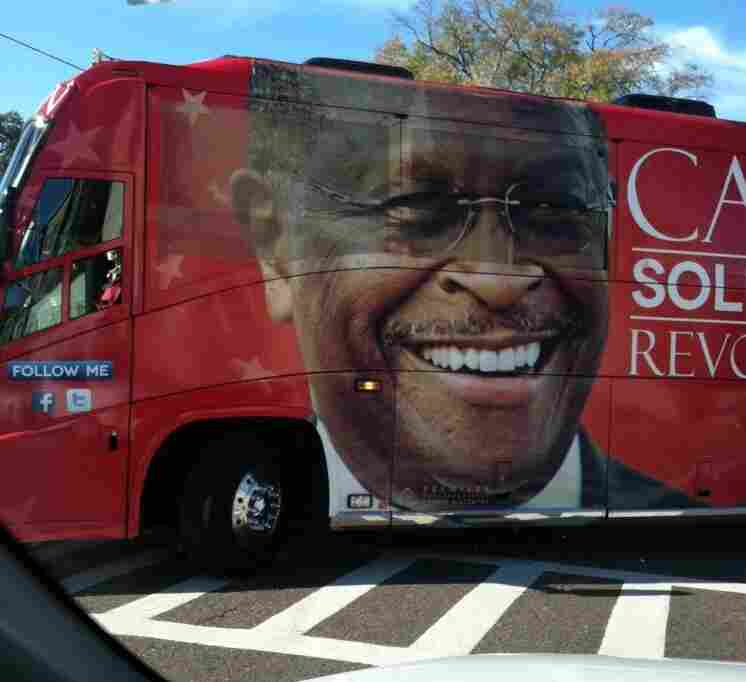 The Herman Cain tour bus in South Carolina.