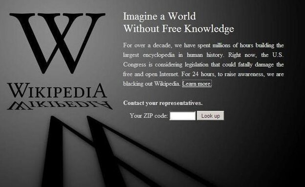 Wikipedia's blackout.