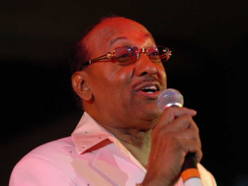"""Abdul """"Duke"""" Fakir of the Four Tops performs in Detroit in February 2006."""
