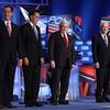 From left, former Pennsylvania Sen. Rick Santorum, former Massachusetts Gov. Mitt Romney, former House Speaker Newt Gingrich and Texas Rep. Ron Paul, at a debate Thursday in Charleston, S.C.