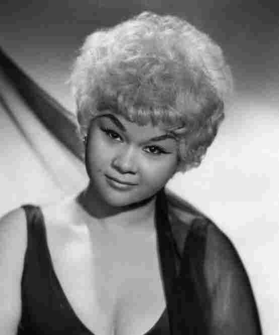 Posed studio portrait of Etta James, circa 1961.
