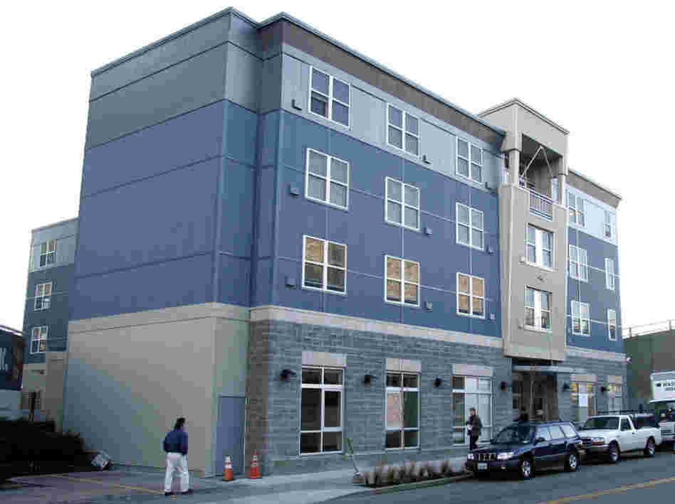 The 1811 Eastlake apartment building in Seattle houses homeless alcoholics without requiring them to stop drinking.