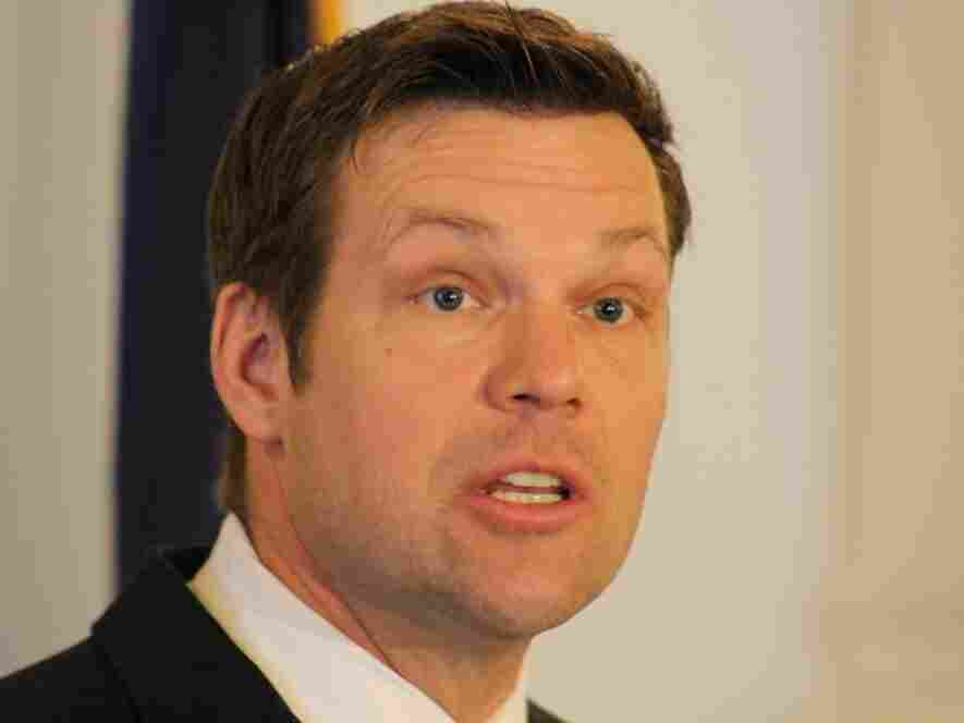 Kansas Secretary of State Kris Kobach has endorsed Mitt Romney — an endorsement that some say could be toxic to the Republican presidential candidate.
