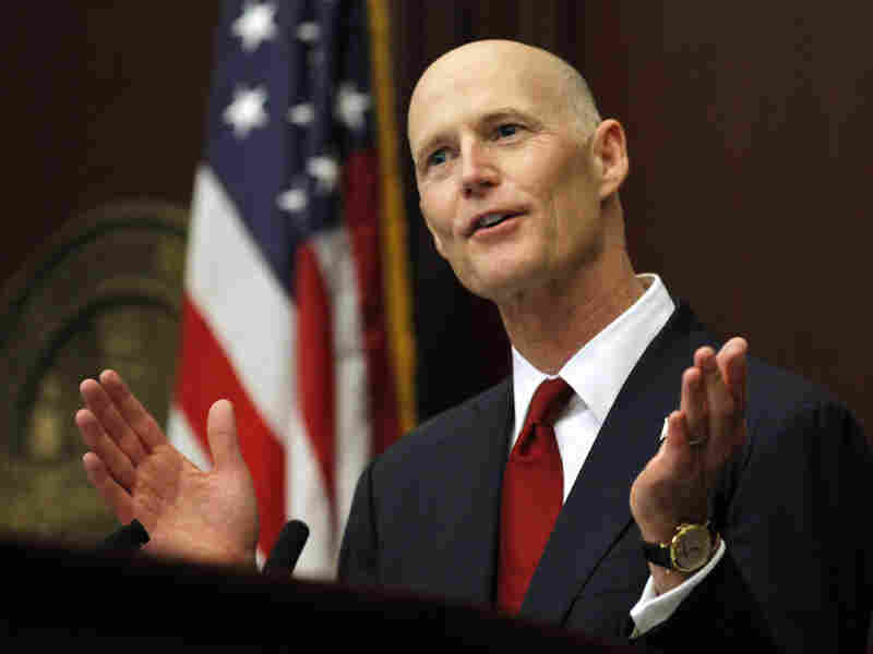 Florida Gov. Rick Scott delivers the State of the State address to a joint session of the Florida Legislature last week.