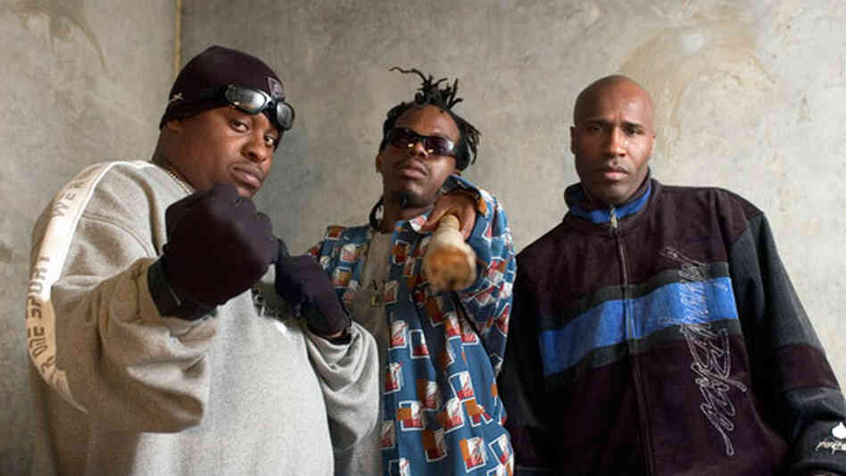 The best known lineup of the Geto Boys. From left to right, Scarface, Bushwick Bill and Willie D.
