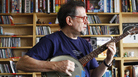 Glenn Jones plays a Tiny Desk Concert at the NPR Music offices on October 28, 2011.