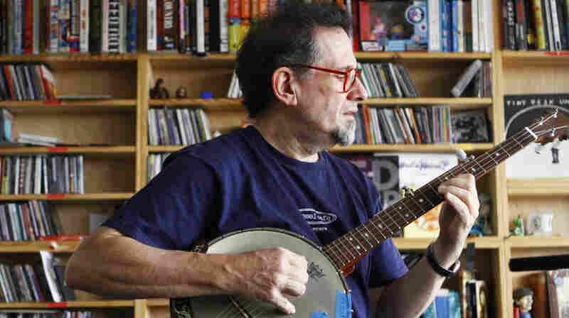 Glenn Jones plays a Tiny Desk Concert at the NPR Music offices on October 28, 2011.
