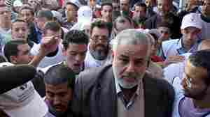 Morocco's Islamist Justice and Development Party heads the country's new government, the result of snap elections called by the king. Here, Abdelilah Benkirane, the party's secretary general and now prime minister, arrives for an election rally in Sale on Nov. 1. The party now faces political as well as economic challenges.