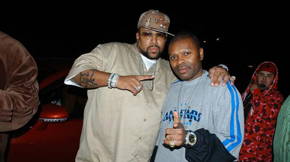J Prince (right), founder and CEO of Rap-A-Lot Records, with one of the musicians on his label, UGK's Pimp C, in Houston in 2006. (Courtesy of Rap-A-Lot Records)