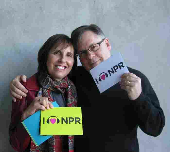 Robert and Michelle King at NPR West