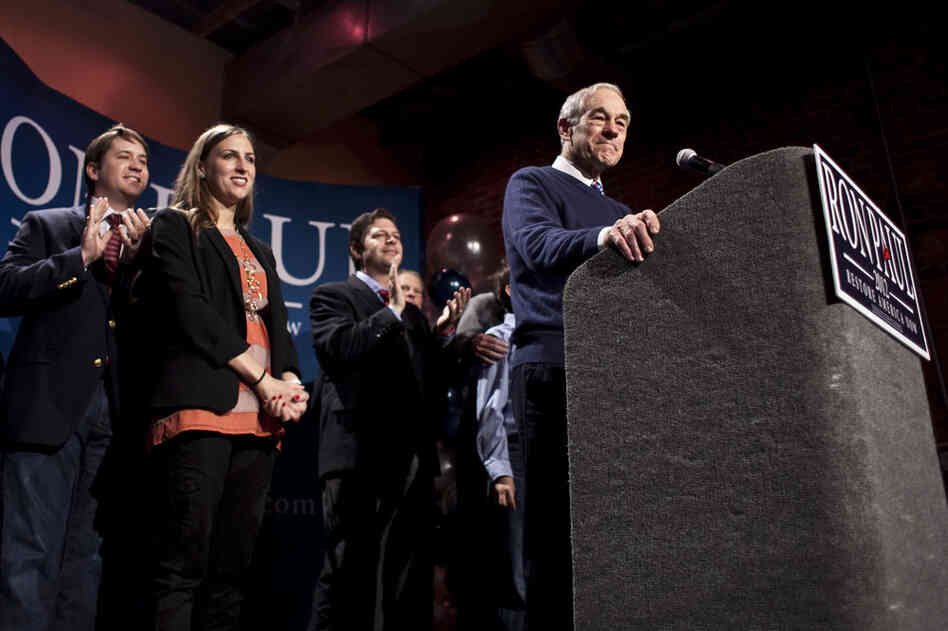 "Ron Paul finished fourth, but told supporters the campaign was still in its early stages. ""This is the beginning of a long hard slog,"" he said."