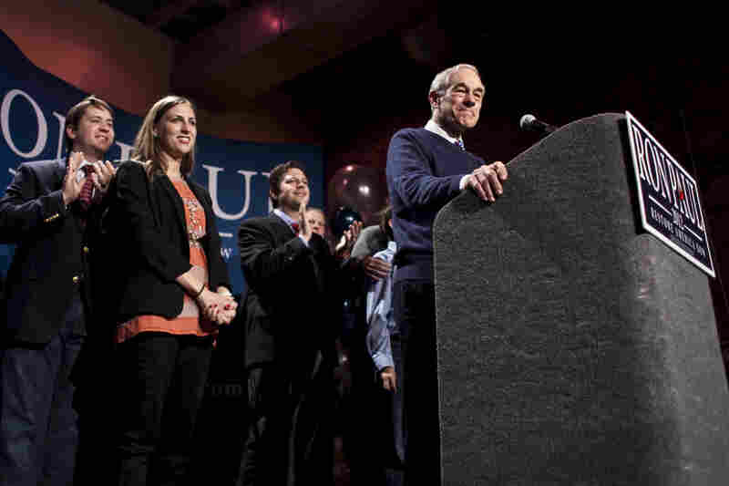 """Ron Paul finished fourth, but told supporters the campaign was still in its early stages. """"This is the beginning of a long hard slog,"""" he said."""
