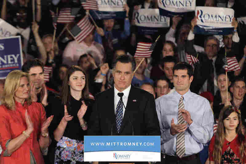 """Our party can't be led to victory by someone who also has never run a business and never led a state,"" Mitt Romney told his disappointed supporters."