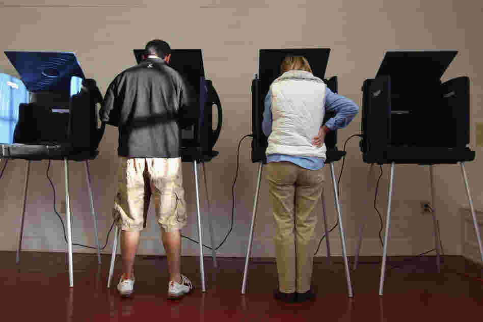 Voters cast their ballots in Charleston, S.C.