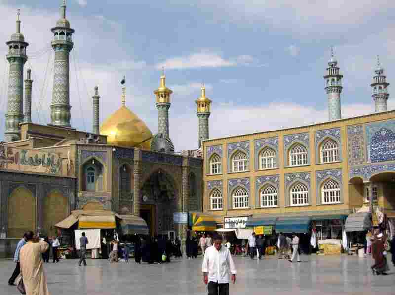 The Hazrat-e Masumeh, a famous shrine, in Qom, Iran. Qom is a holy city. Iran's Fordow uranium enrichment facility is built under the city. Many claim that the facility is being used to produce weapons grade uranium.