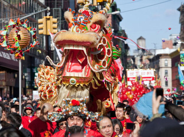 Celebrating Chinese New Year, last year, in New York's Chinatown.