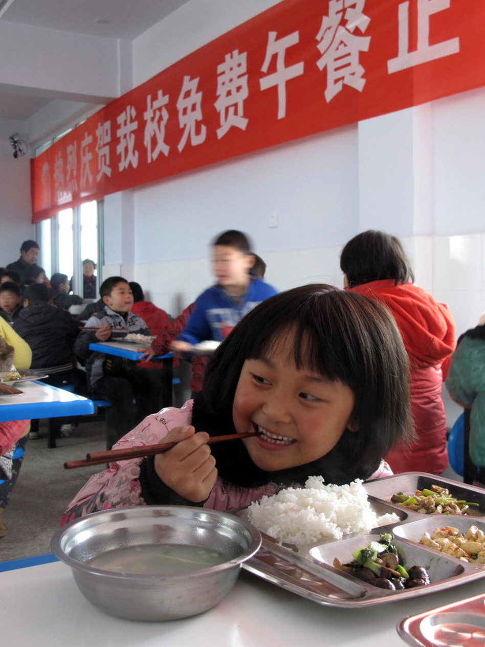 For China S Left Behind Kids A Free Lunch Wbur News