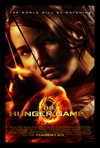 One of the posters for The Hunger Games.