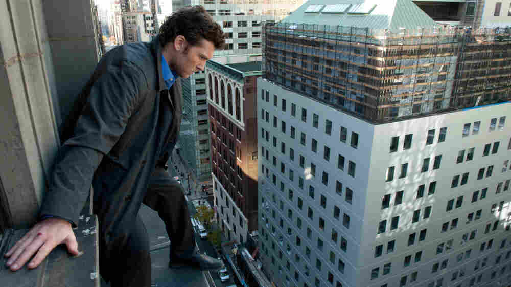 High wired: Inches away from free-fall, ex-cop Nick Cassidy (Sam Worthington) calls the shots in a jewel heist in Man On A Ledge.