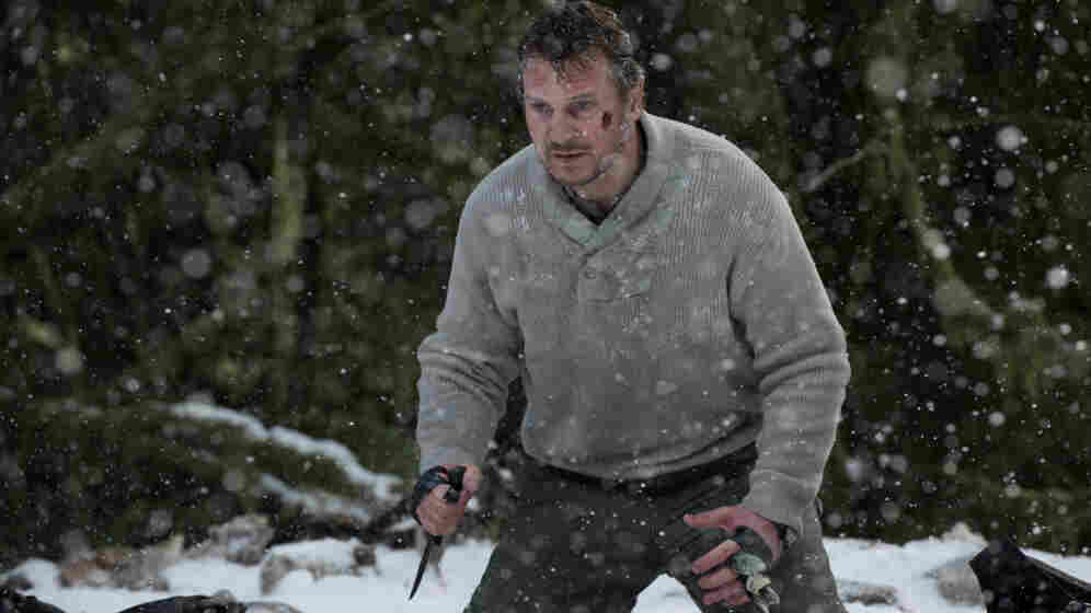 Cold Blood: John Ottoway (Liam Neeson) and his fellow air-crash survivors take on the arctic elements — and a hungry wolf pack — in The Grey.