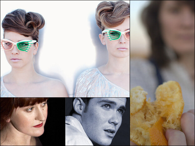 Clockwise from upper left: Lucius, Julie Ann Bee from Sea of Bees, Thomas Patrick Maguire, Liz Green.