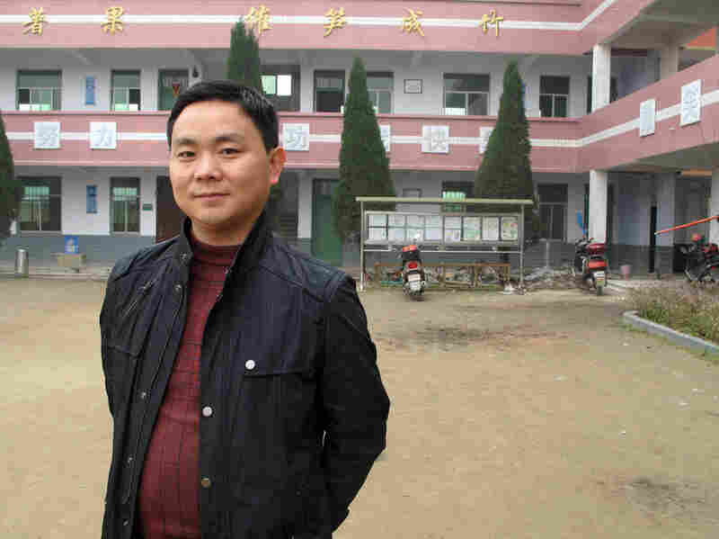"Bai Baojun is the school's headmaster. The parents of 80 percent of his students have moved away to find work, and many of these ""left-behind"" children routinely go hungry, he says."