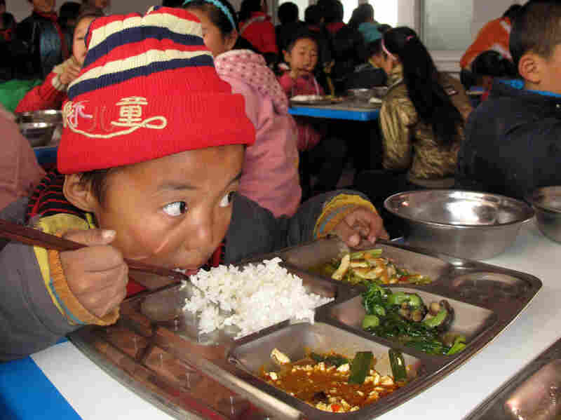 Hujiaying primary school in China's remote Shaanxi province is among the schools benefiting from the nonprofit Free Lunch for Children program.