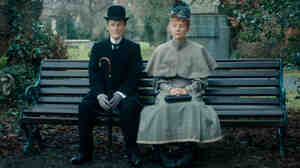 Albert Nobbs (Glenn Close) and Helen (Mia Wasikowska) go on a series of awkward dates in Albert Nobbs, a film based on a 1918 George Moore story.