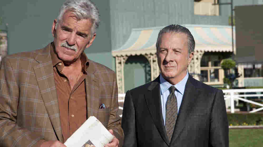 "HBO's new drama Luck is set at a California racetrack. Dennis Farina (left) co-stars with Dustin Hoffman, who plays Chester ""Ace"" Bernstein, a newly released felon with a penchant for thoroughbreds."