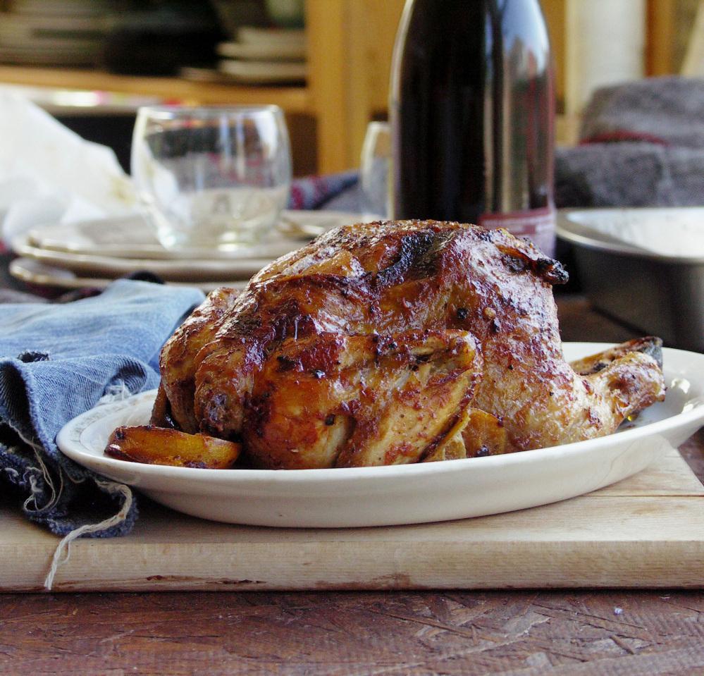 Recipe: Whole Roast Chicken With Harissa : NPR