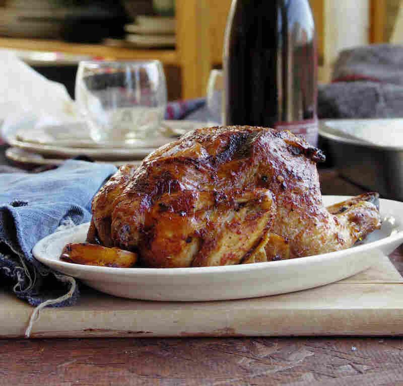Whole Roast Chicken With Harissa