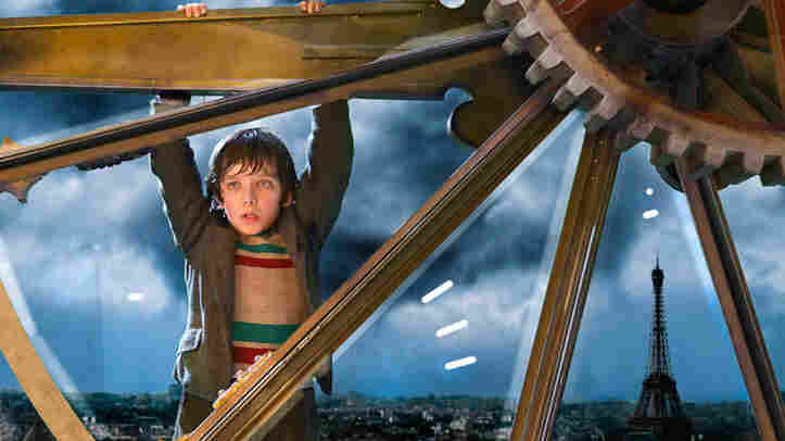 "In the movie ""Hugo,"" abandoned by an alcoholic uncle after the death of his father, Hugo services the train station tower clock by day and sleeps in it by night."