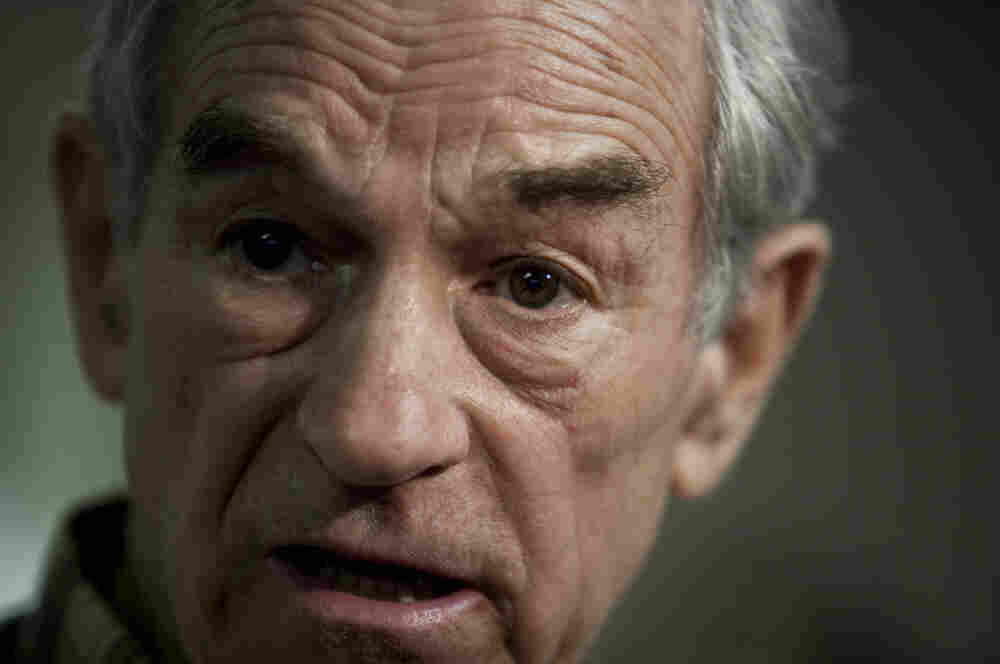 U.S. Rep. Ron Paul, shown at a campaign stop in South Carolina, spoke with NPR's All Things Considered today about the upcoming primaries, the possibility of a third-party run, taxes and other issues.