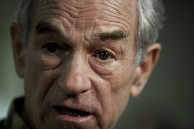 U.S. Rep. Ron Paul, shown at a campaign stop in South Carolina, spoke with NPR's All Things C