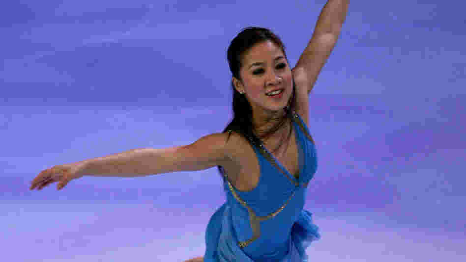 Michelle Kwan performs at an exhibition in 2005.