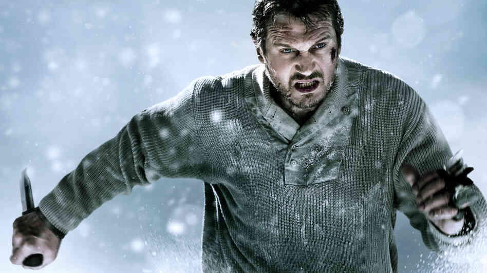 Liam Neeson stars in The Grey as a guy who's taking on some wolves.