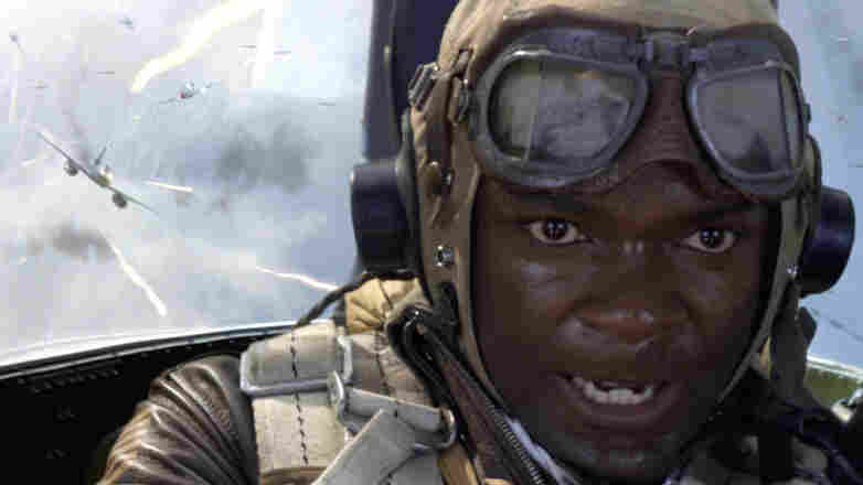 """David Oyelowo portrays Joe """"Lightning"""" Little in the movie Red Tails. Oyelowo and other actors got guidance on from real Tuskegee Airmen, some of whom are nearly 100 years old."""